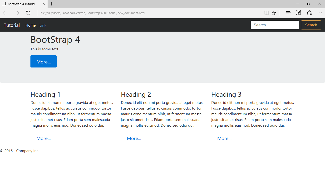 Bootstrap Example With Footer Bootstrapdash