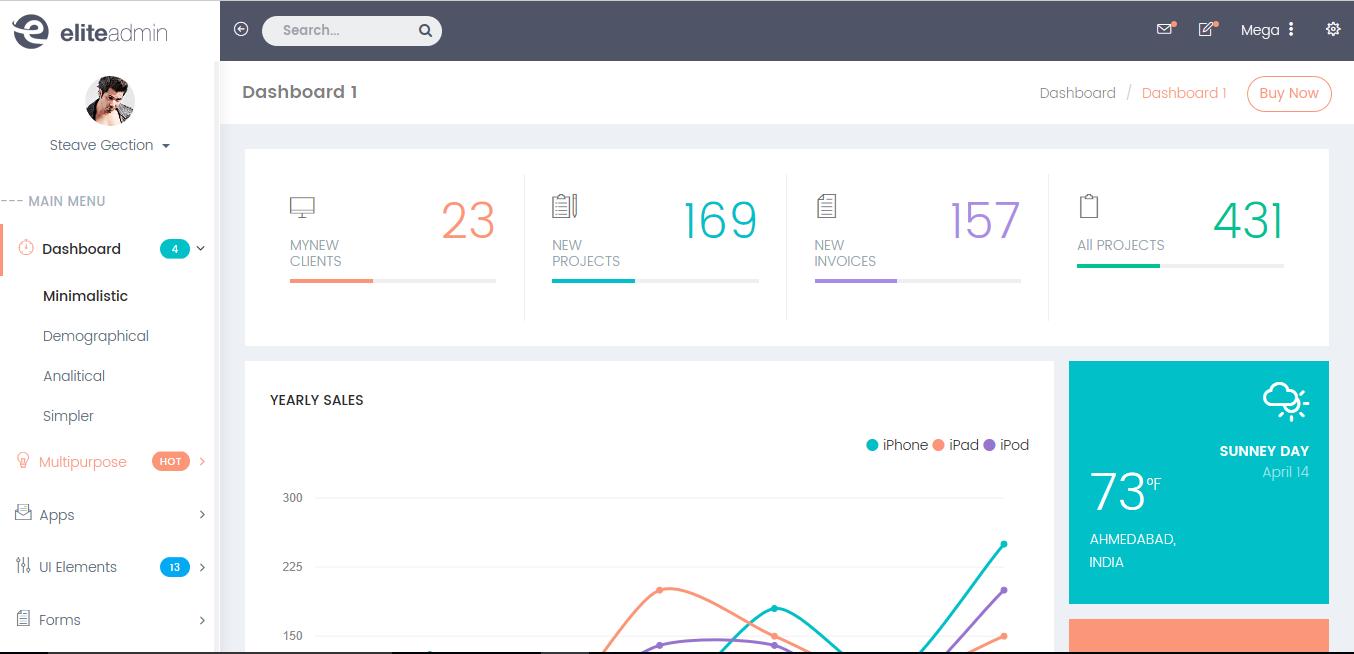Elite - Premium Bootstrap 4 Admin Template
