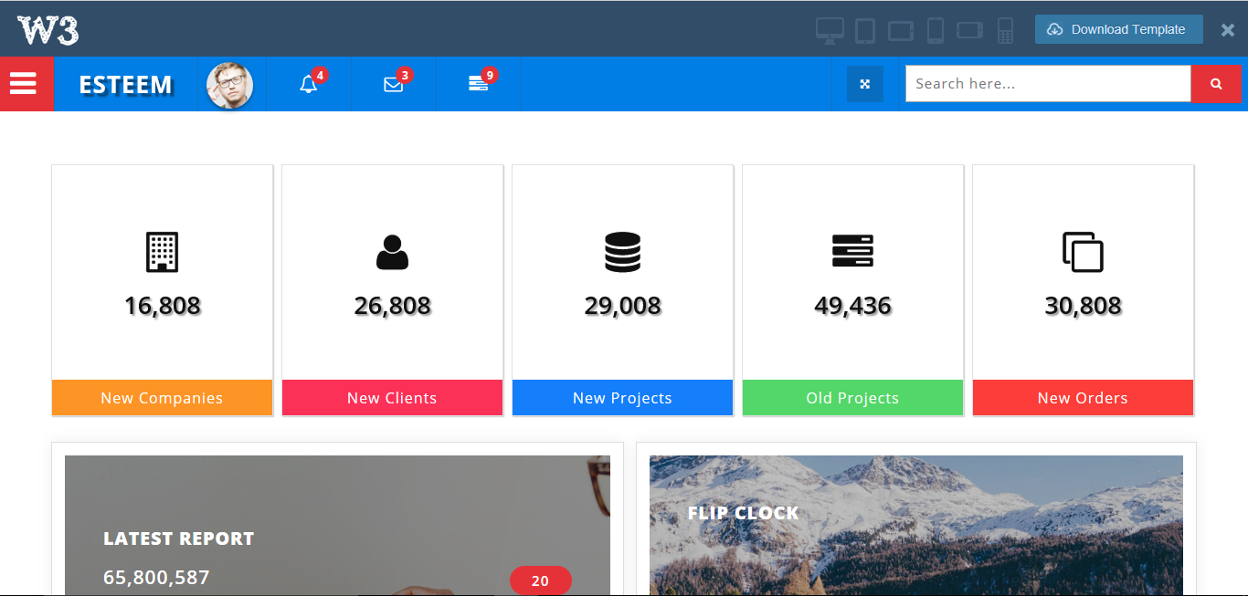 16 free bootstrap 3 admin templates 2018 for Jquery admin panel template free download