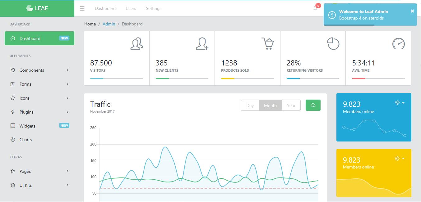 Leaf - Premium Bootstrap 4 Admin Template