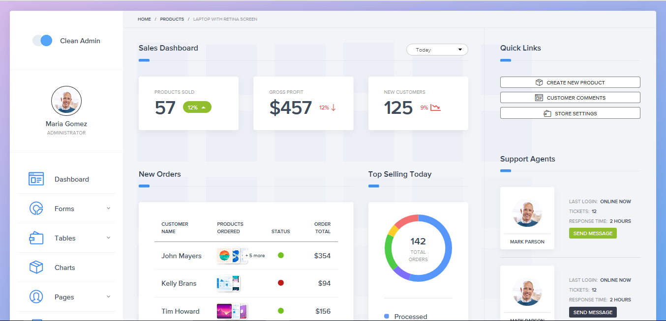 The Most Beautiful And Best Selling Bootstrap Admin Templates Of 2018