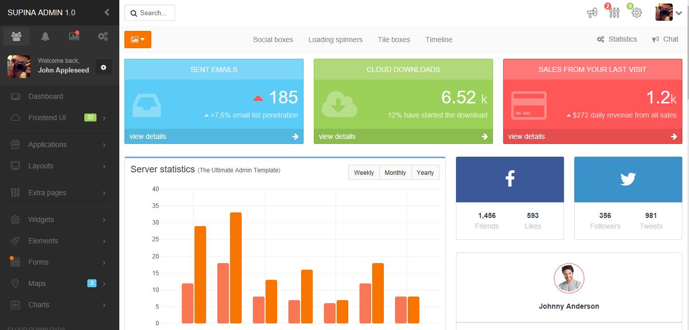 Supina - premium Bootstrap 3 admin template