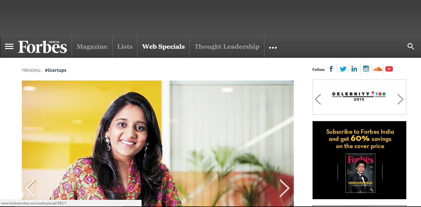 Forbes India Bootstrap example website