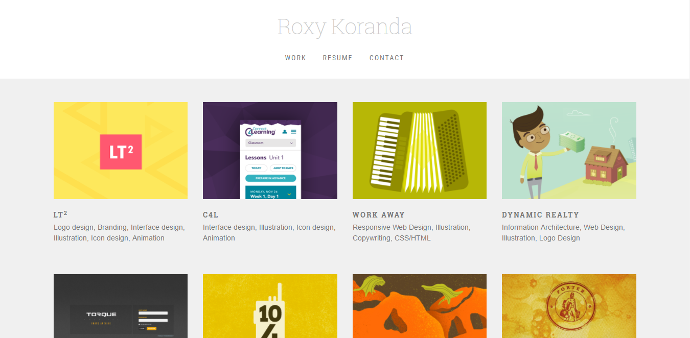 Roxy Koranda Bootstrap website example