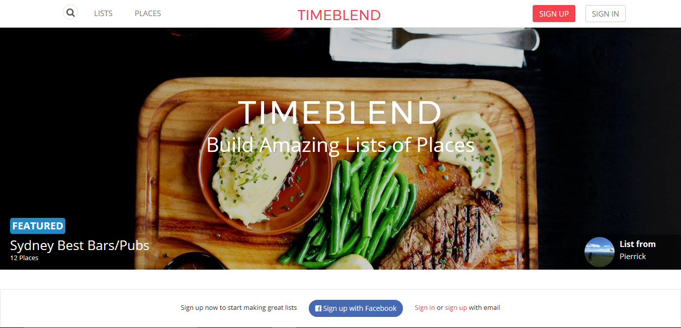 Timeblend Bootstrap example