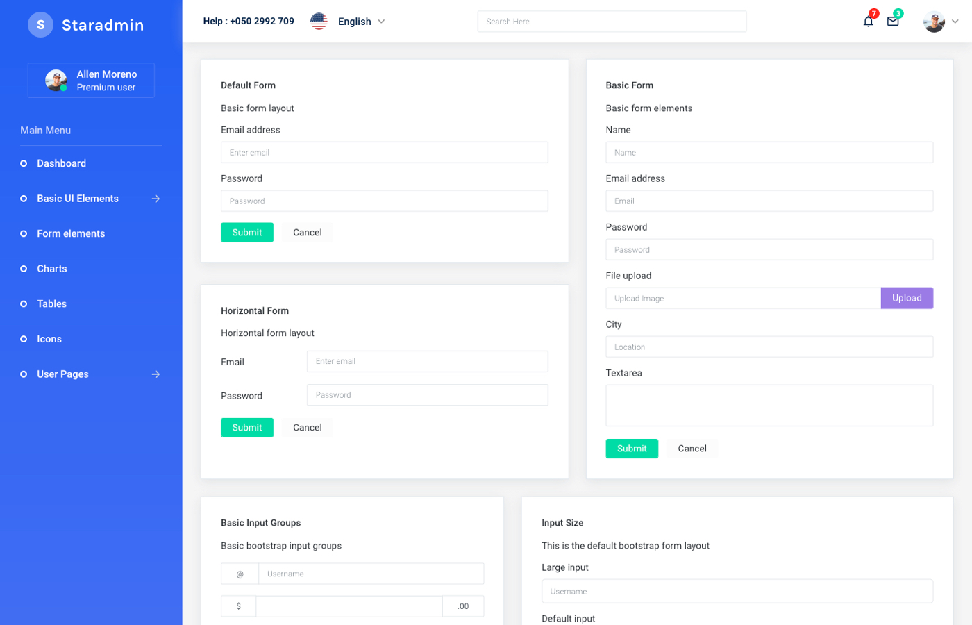 Star Admin - Bootstrap Free Admin Template