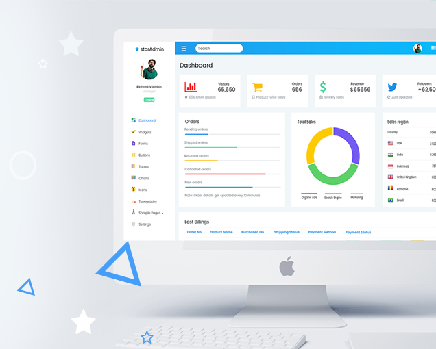 Top 20+ best free bootstrap admin dashboard themes 2019 talkelement.