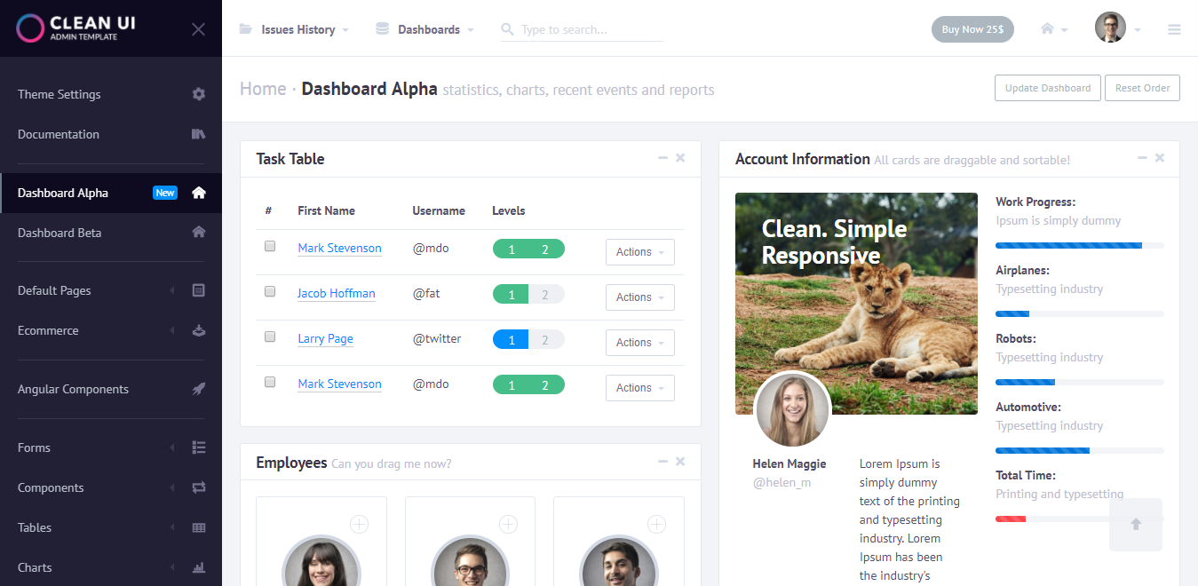Best Online Shopping Admin Templates Of - Website template with admin panel