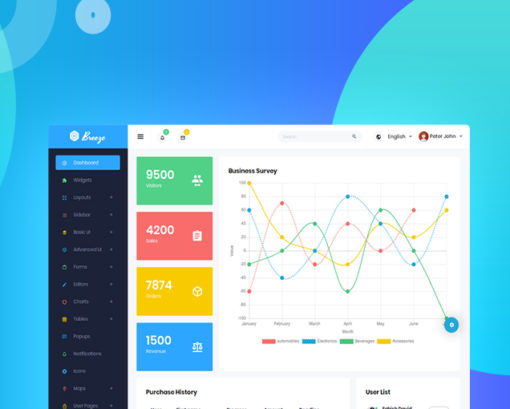 breeze bootstrap template