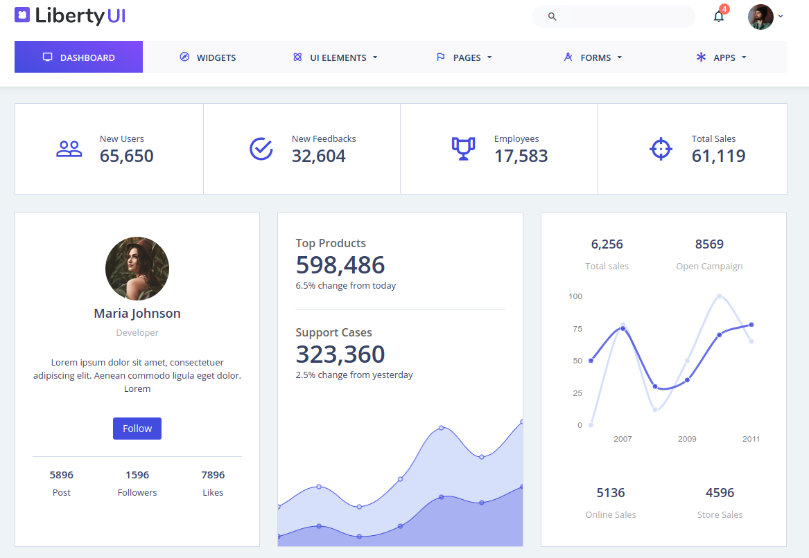 14 Modern Admin Templates for Web Applications 2017