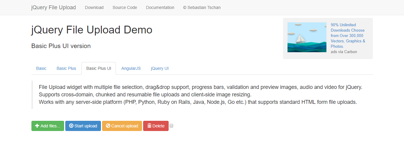 jquery-file-upload-bootstrap-plugin - BootstrapDash
