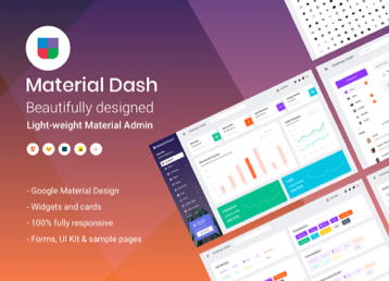 Material Dashboard banner