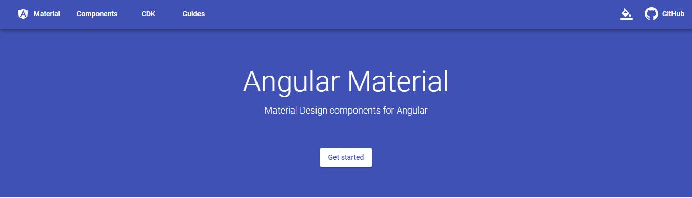 Material Design framework - Angular Material