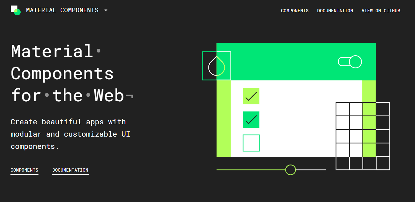 Material components for the Web Material Design framework