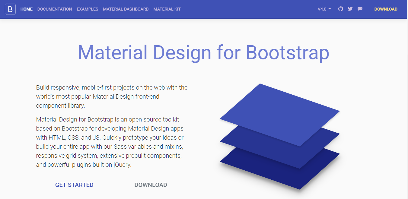 Material Design for Bootstrap Material Design framework