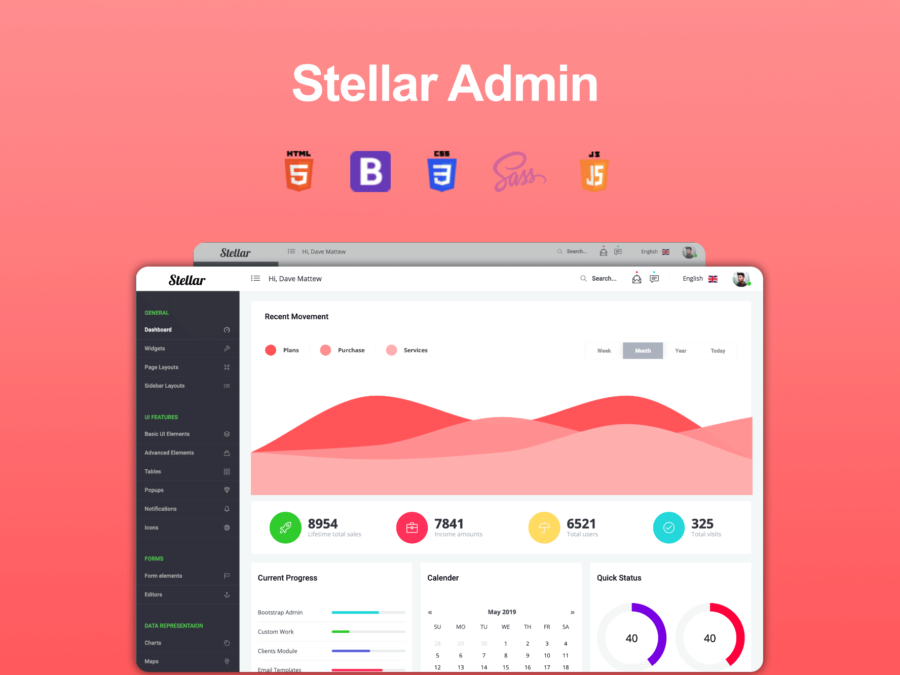 Stellar Admin Template