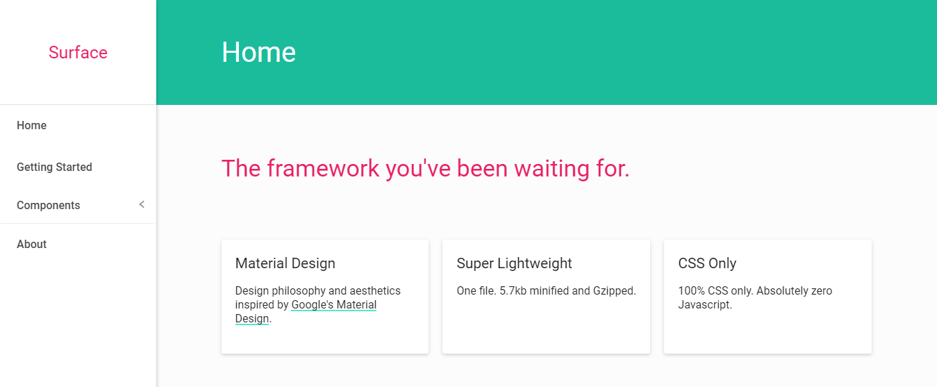 Surface Material Design framework