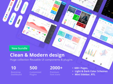 Admin Template Mega Bundle