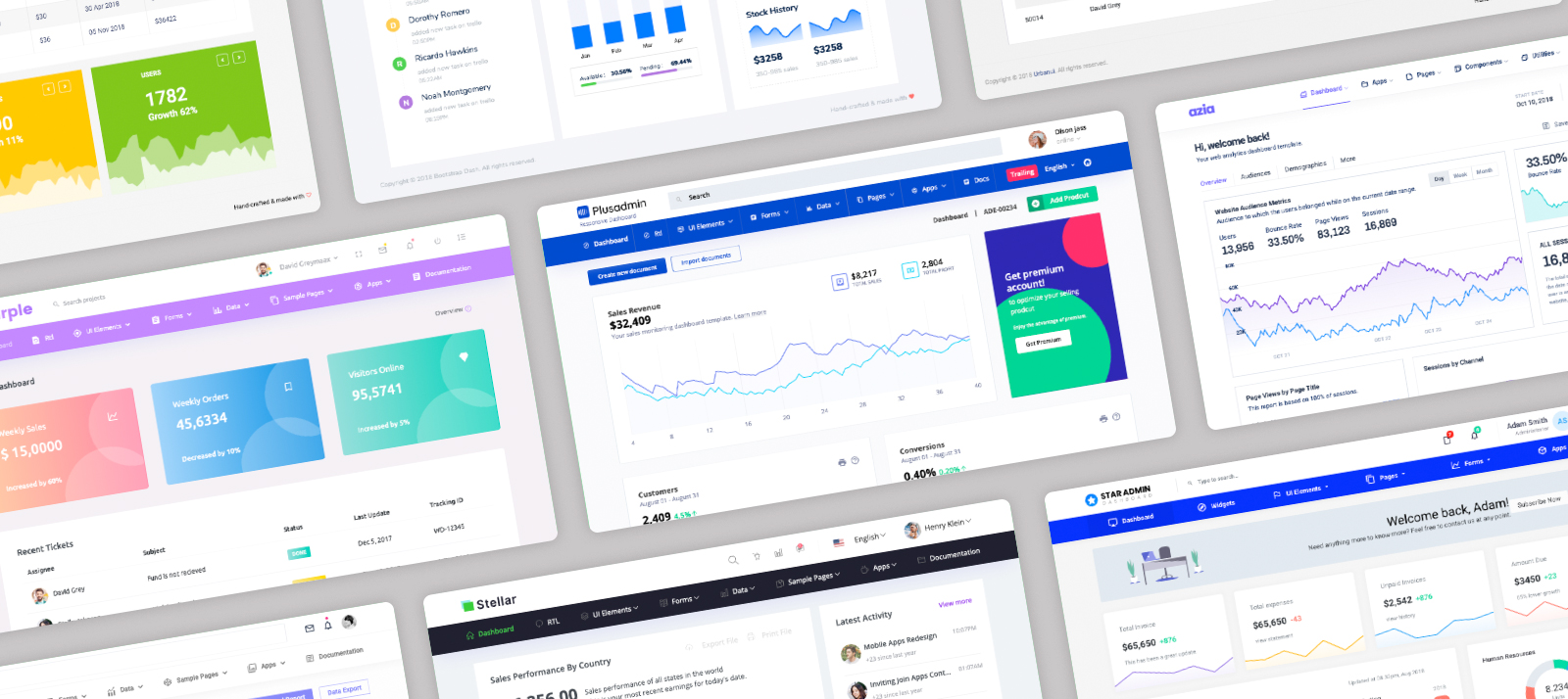 Best Bootstrap Admin Templates of 2020 with Horizontal Menu