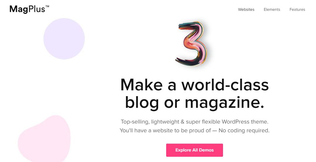 MagPlus Blog Magazine WordPress theme