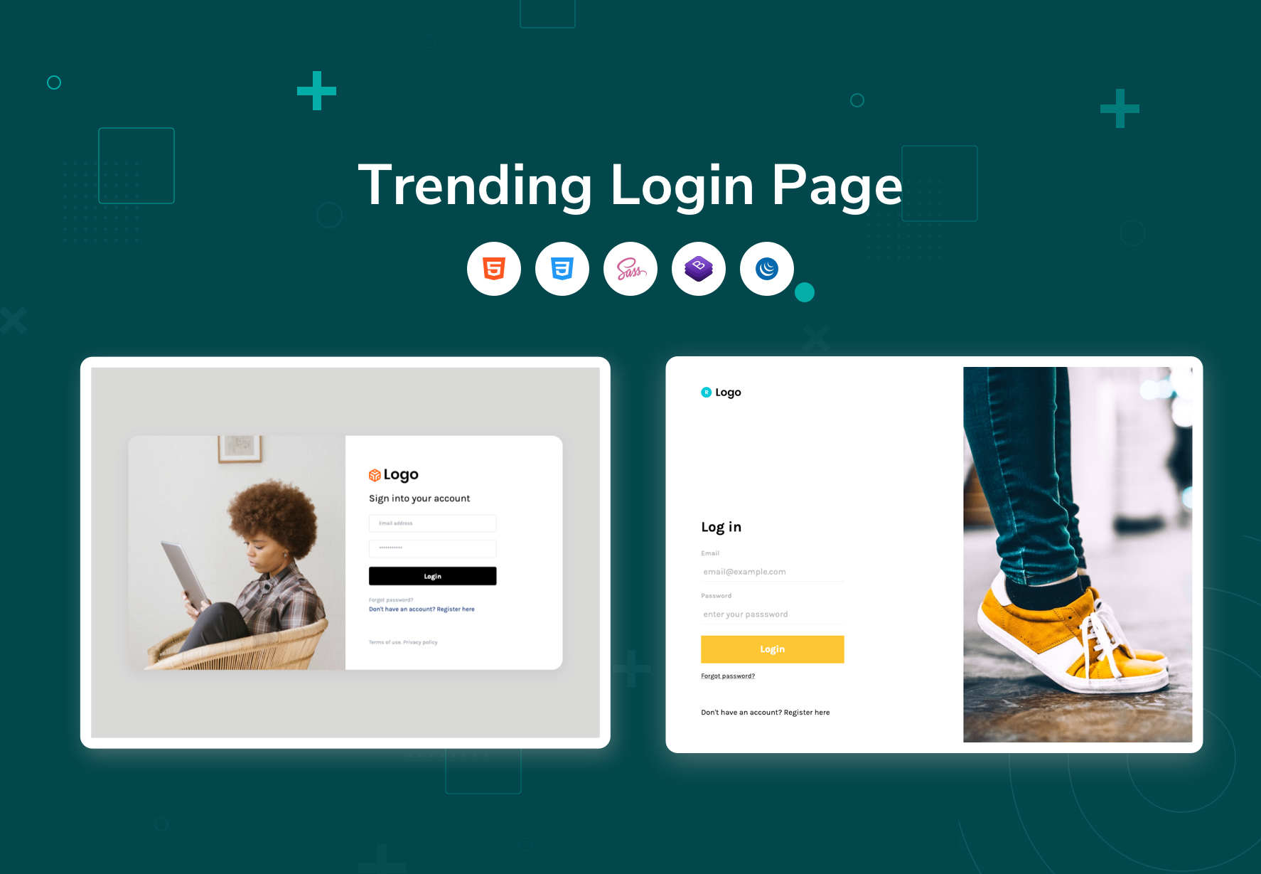 login page template from bootstrapdash