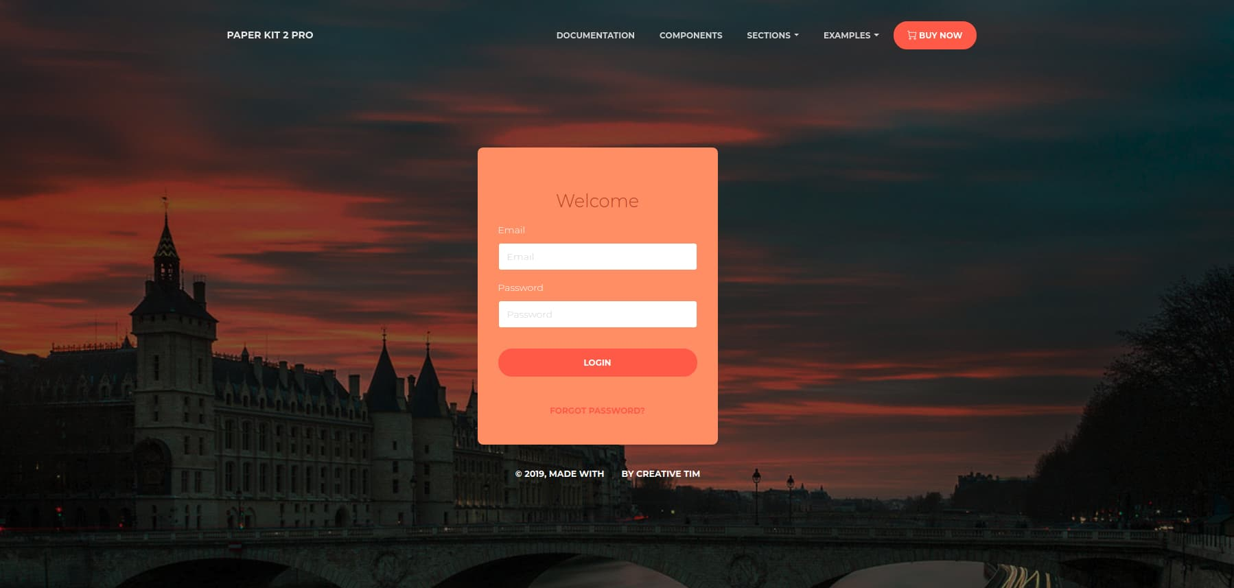 paperkit 2 pro login page template