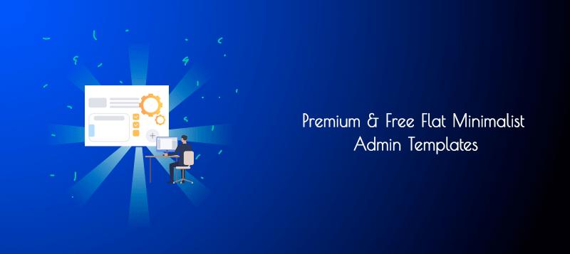 premium and free flat minimalist admin templates