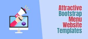 bootstrap menu templates