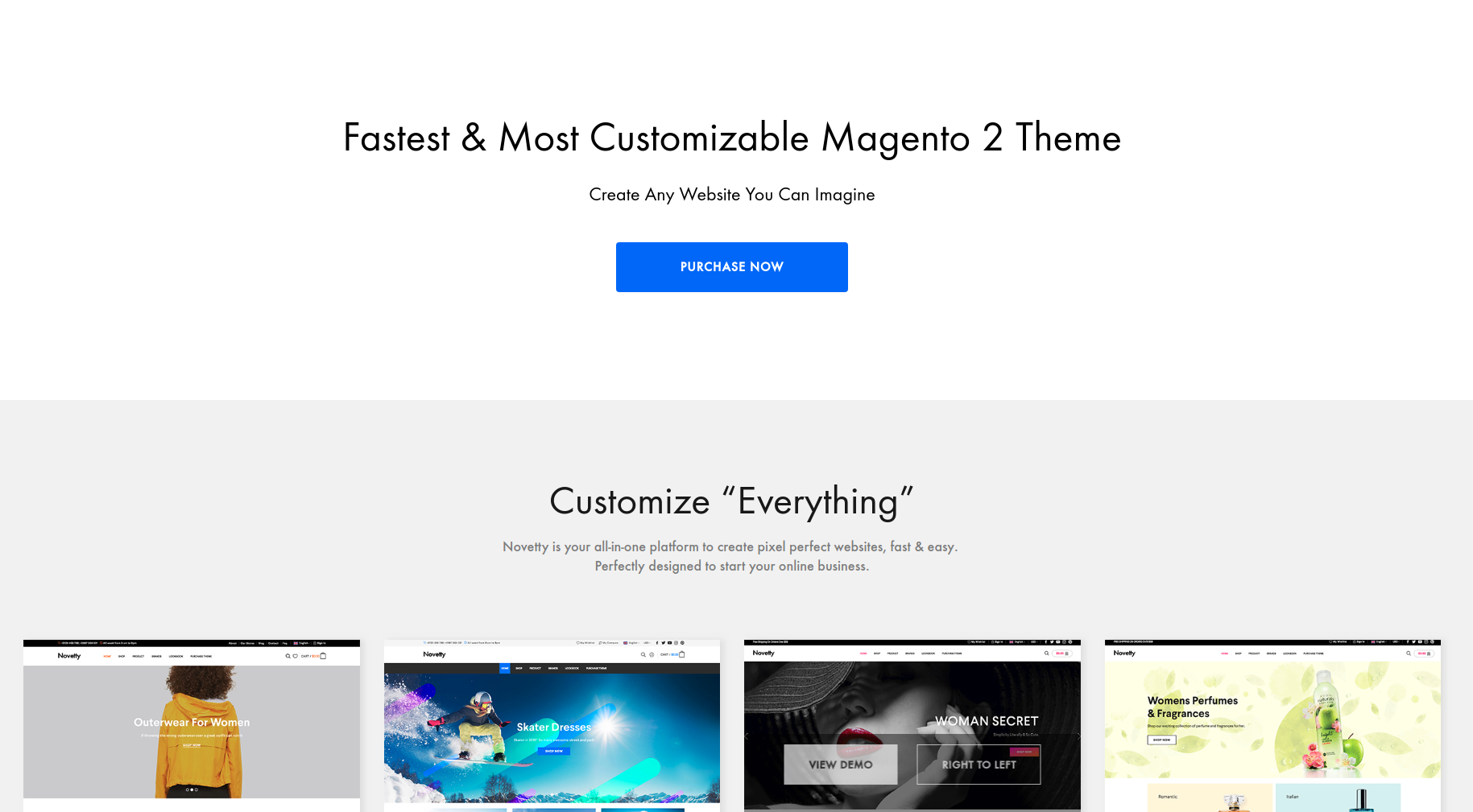 fastest and most customizable magento