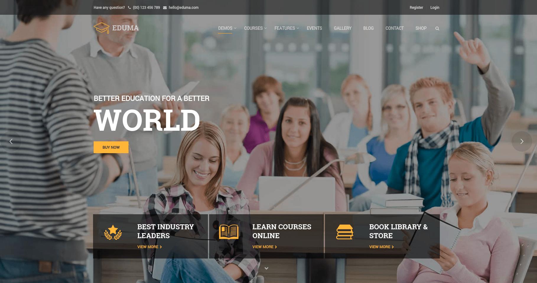Education WordPress Theme world