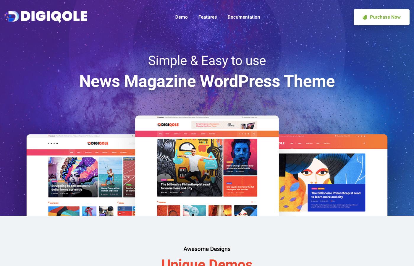 digiqole news magazine