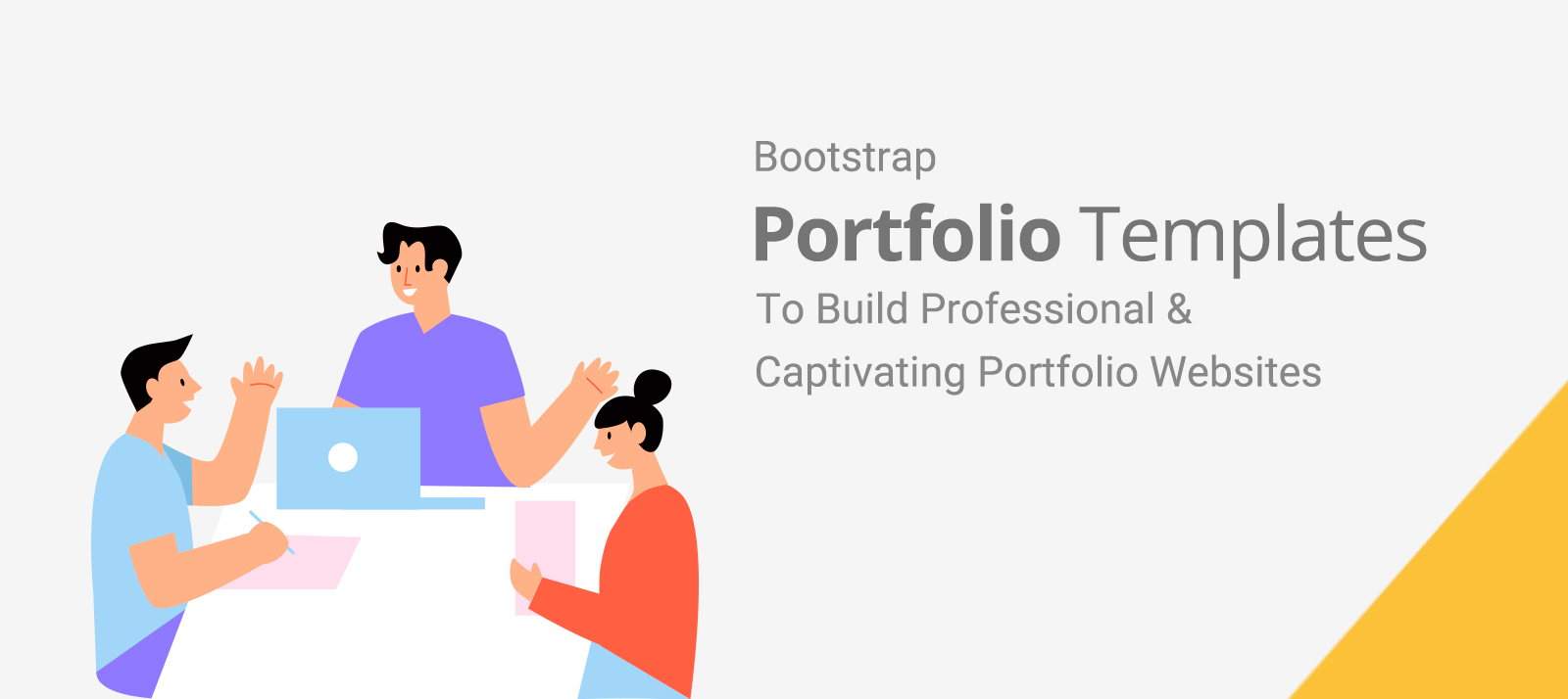 Bootstrap Portfolio Templates To Build Professional & Captivating Portfolio Websites