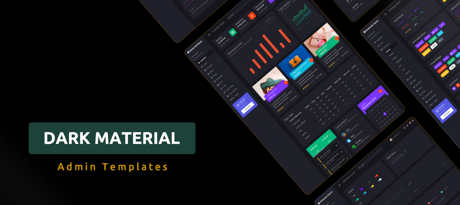 10+ Dark Material Design Admin Templates You Do Not Want To Miss Out in 2020