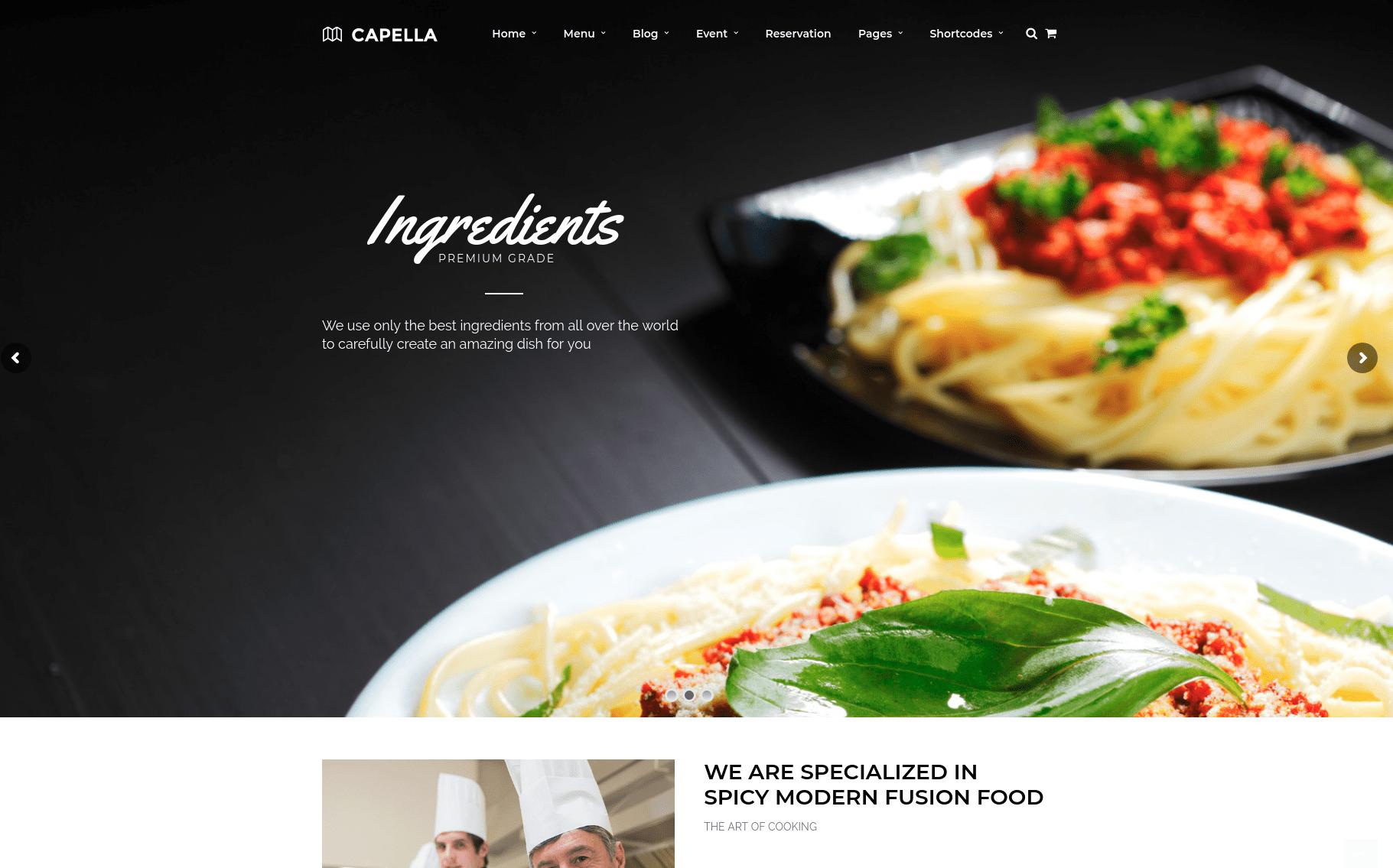 kapella- ingrediants