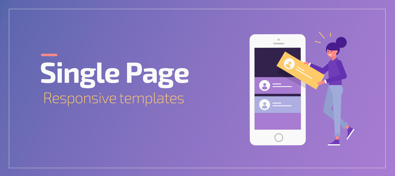 Bootstrap Single Page Templates With Fully Responsive Design