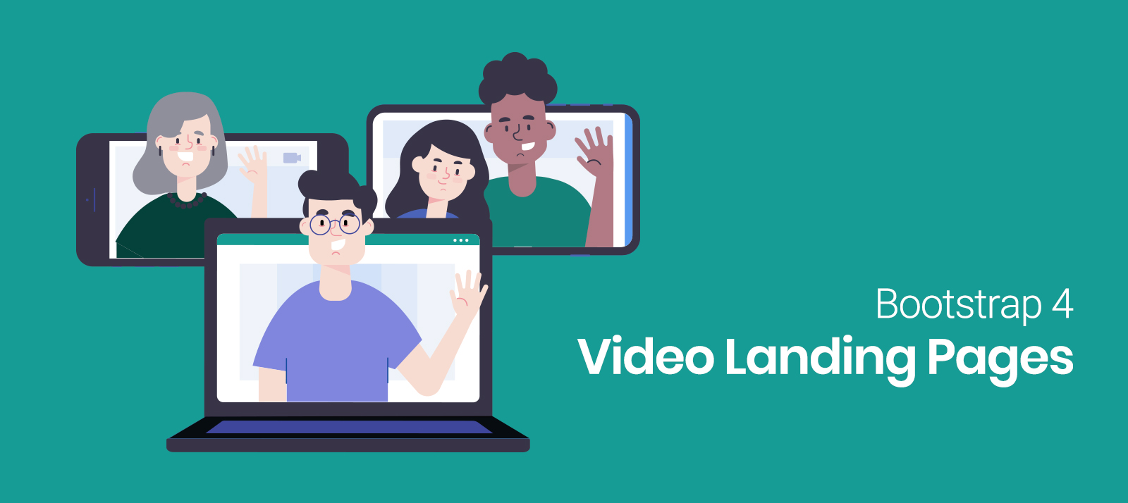 Bootstrap 4 Video Landing Pages Sure to Impress Users in 2020
