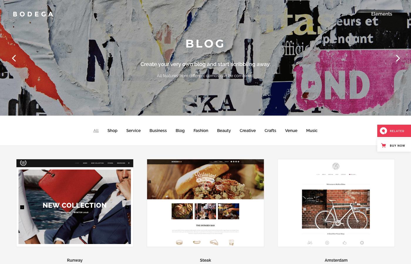 bodega wordpress website