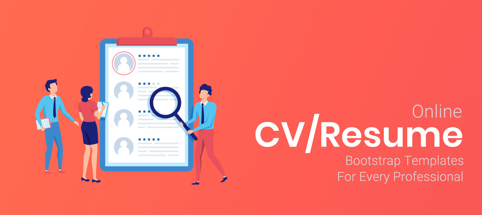 Premium Online CV/Resume Bootstrap Templates For Every Professional