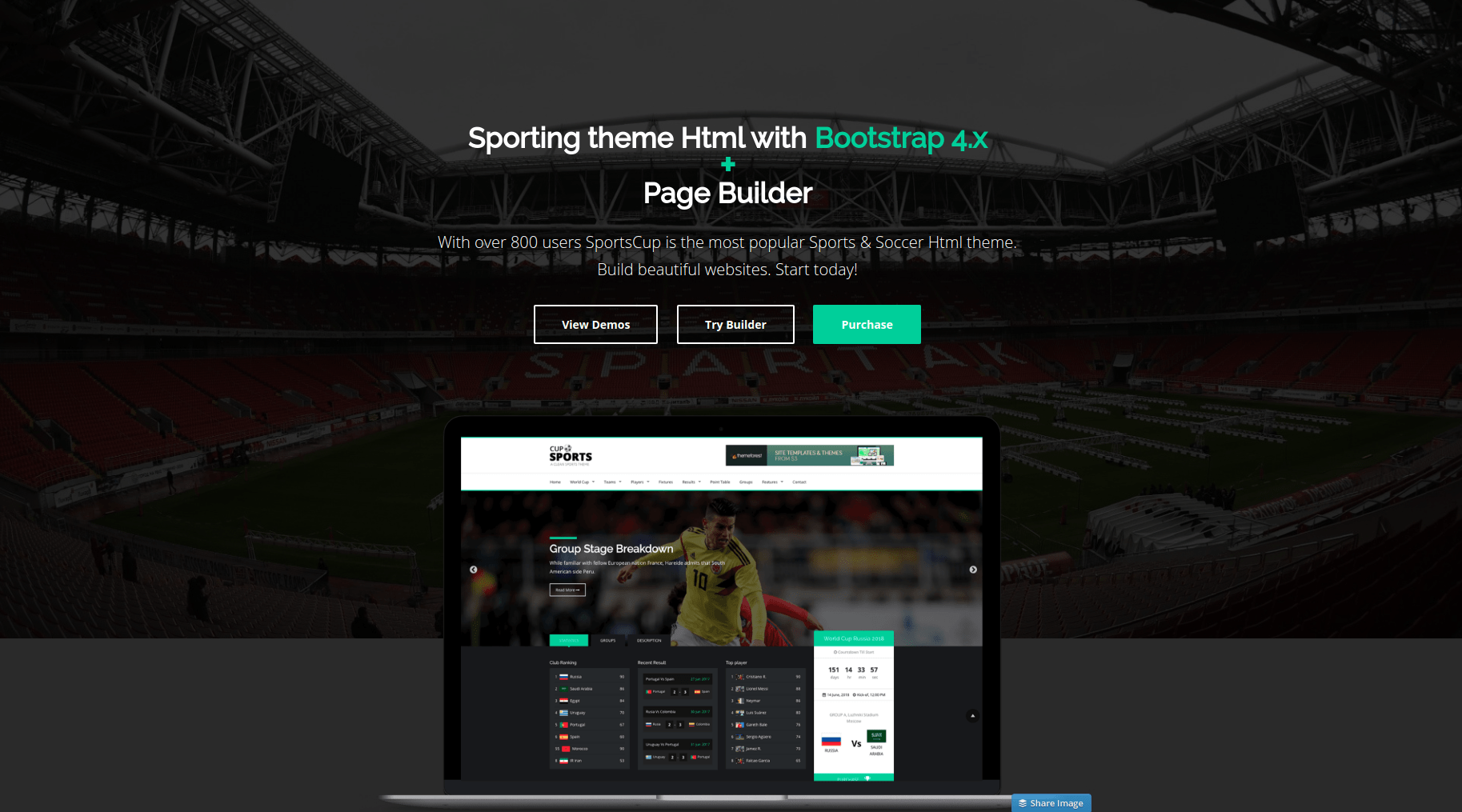 sports page builder