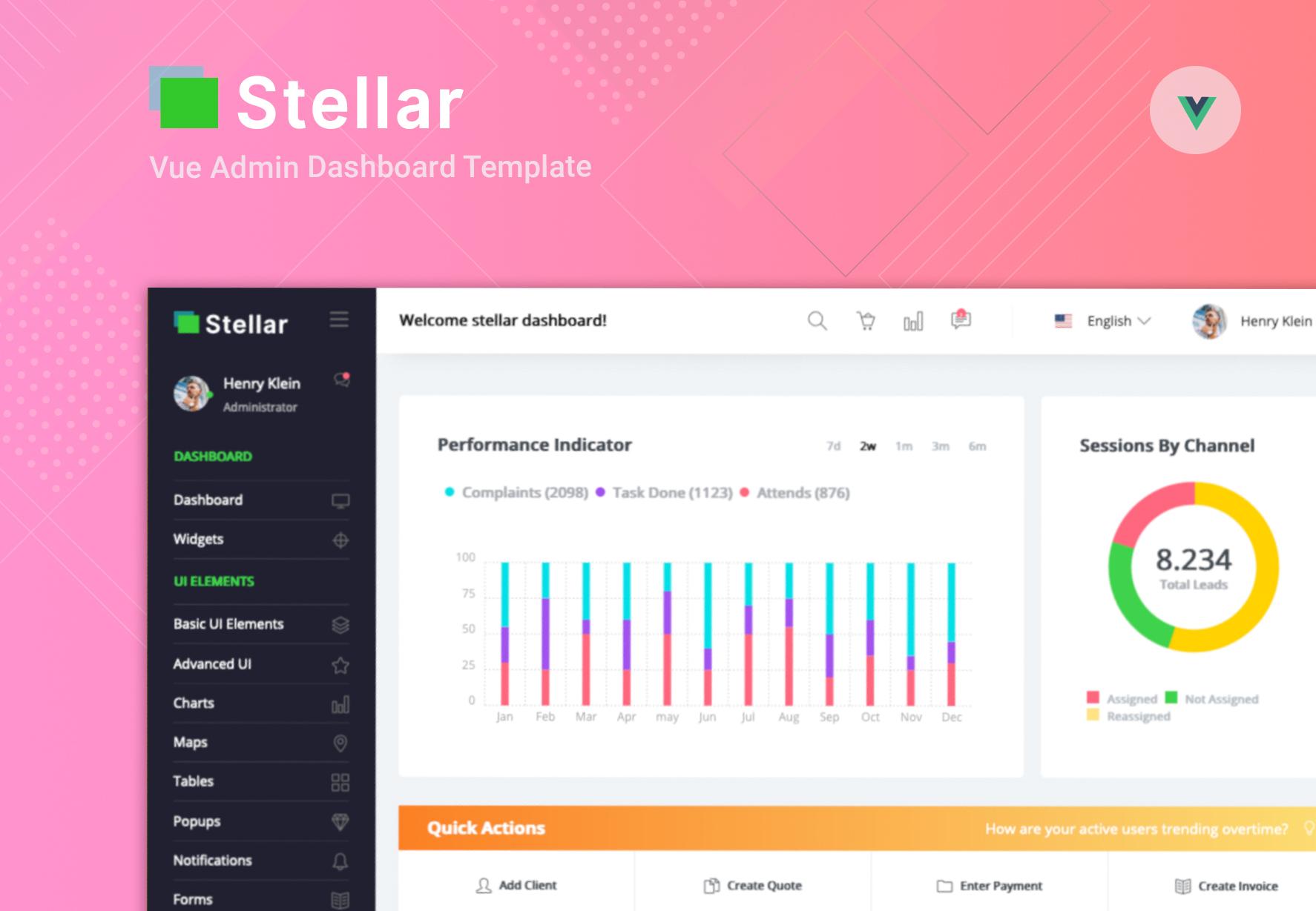 Stellar Admin Pro Vue