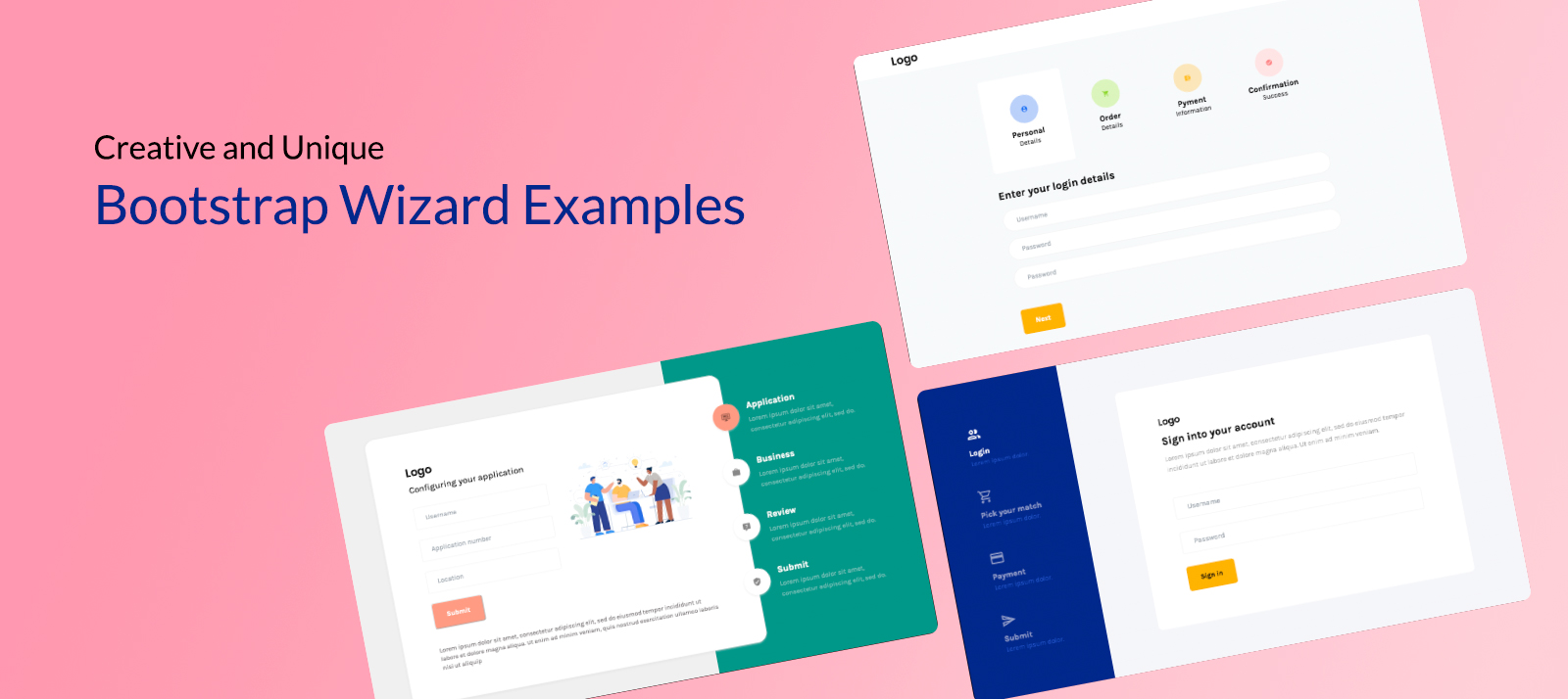10 Creative and Unique Bootstrap Wizard Examples You Should Be Paying Attention To