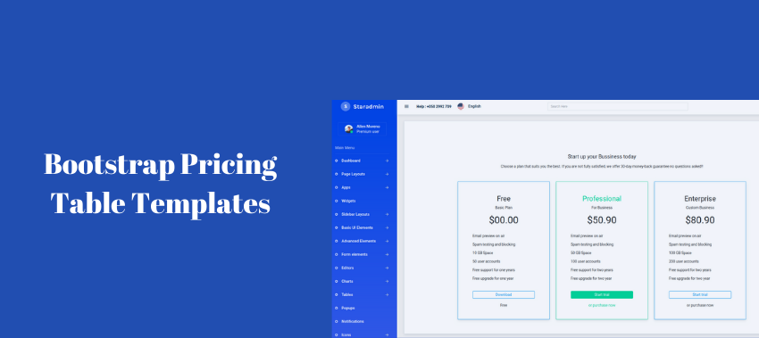 bootstrap pricing tables