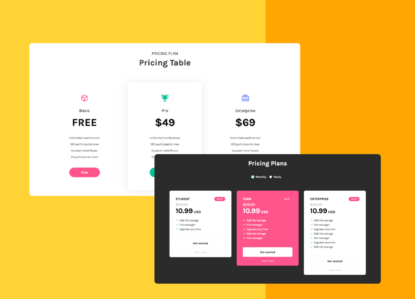 Pricing Plan free