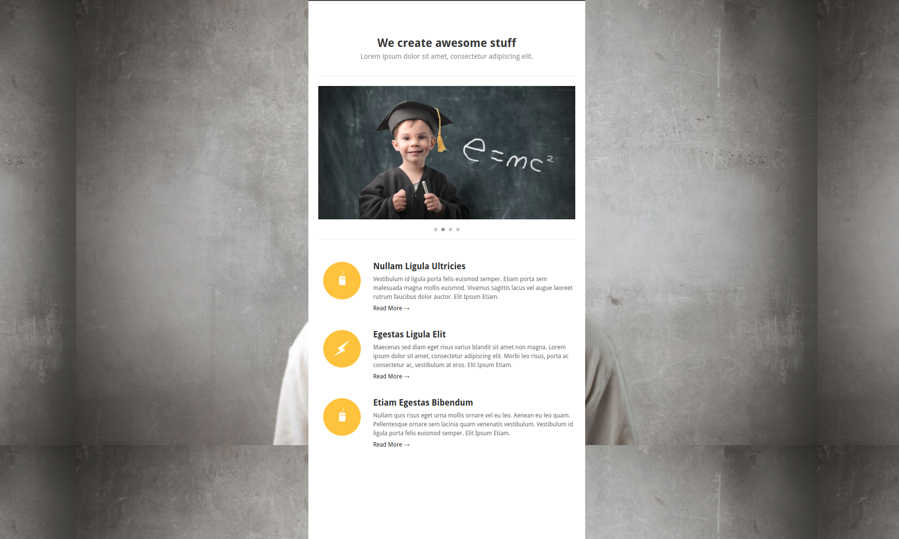 Slide One – One-Page Parallax Theme