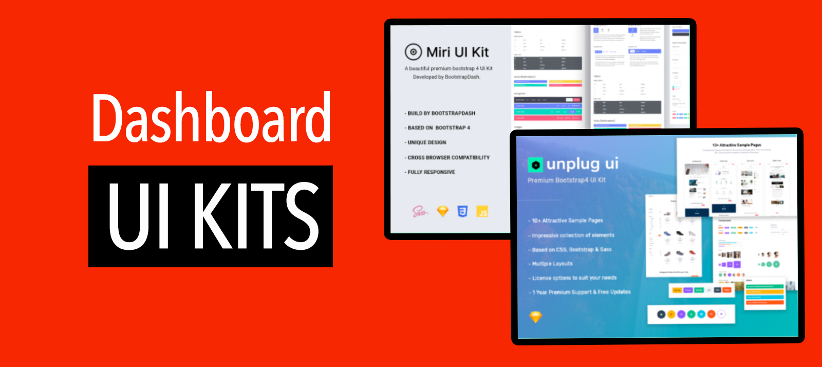 34 Best Premium Dashboard UI Kits and Templates of 2020