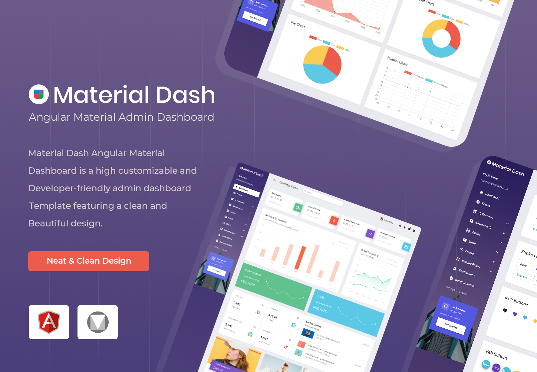 Material Angular Dashboard Template