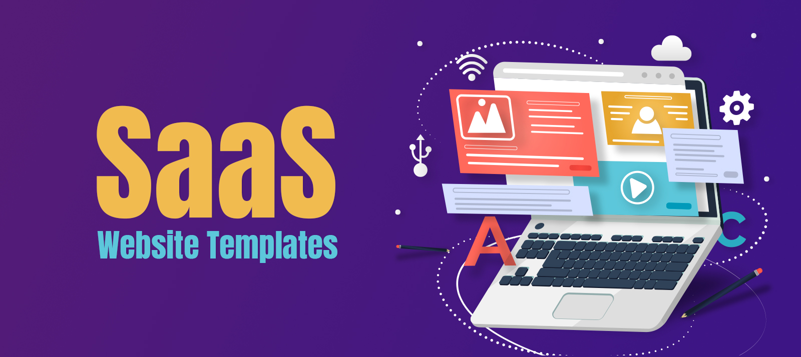 40+ Ready To Use Free and Premium SaaS Website Templates