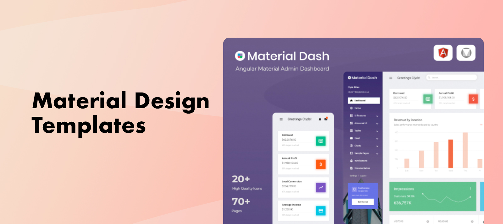 10+ Best and Easy To Use Material Design Admin Templates of 2020