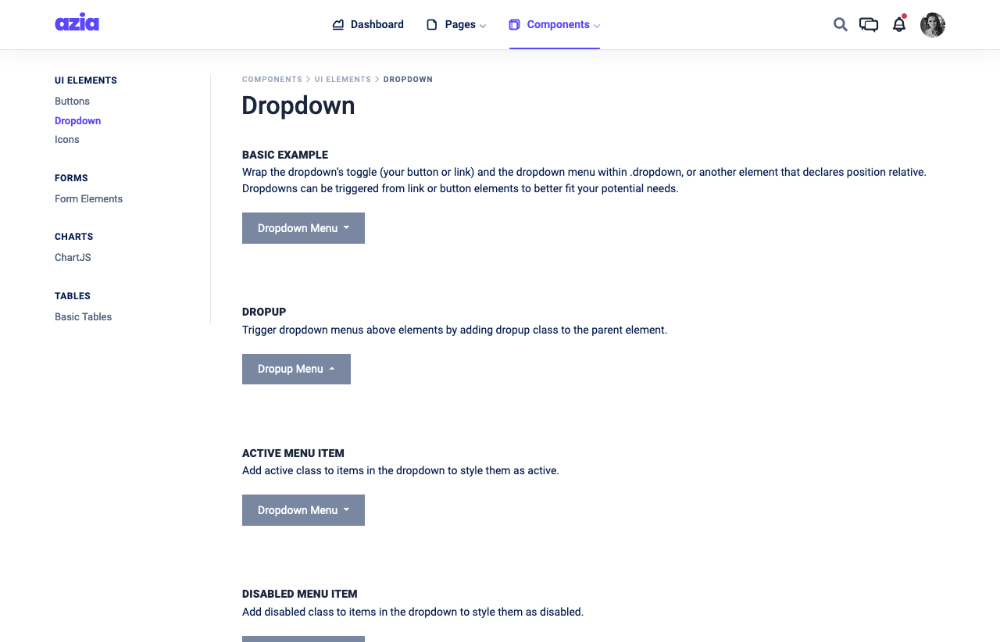 dropdown