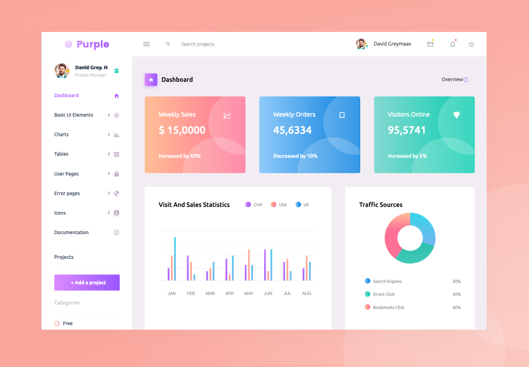 Purple Vue Admin - Free